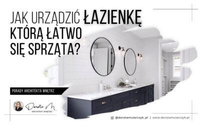 Jak urządzić łazienkę, którą łatwo się sprząta?